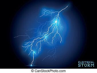 elétrico, tempestade