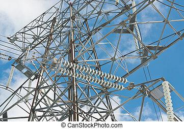 elétrico, torre transmissão, (electricity, pylon)
