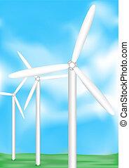 elétrico, vento