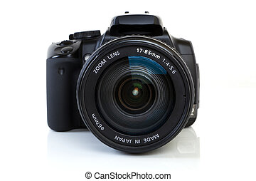 elülső, fényképezőgép, -, dslr, kilátás