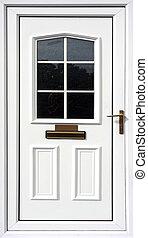elülső, fehér, ajtó
