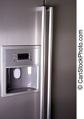elülső, modern, hűtőgép