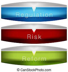 előírás, kockáztat, reform, diagram