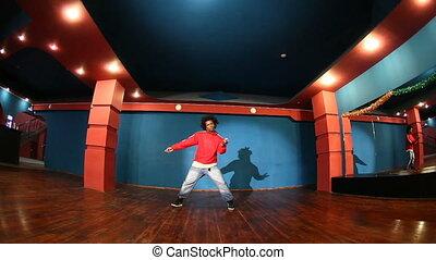 előadás, táncol, modern