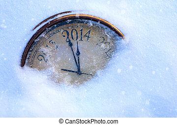 előest, művészet, karácsony, év, új