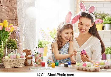 előkészítő, húsvét, család