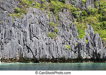 el , λιμνοθάλασσα , φιλιππίνες , nido, θαυμάσιος , θάλασσα , βράχοs