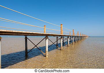 el, エジプト, sea., 桟橋, gouna, 赤
