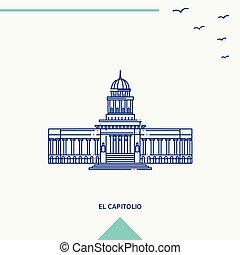 el, スカイライン, ベクトル, イラスト, capitolio