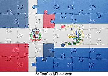 el, ドミニカ人, サルバドール, 困惑, 旗, 共和国, 国民