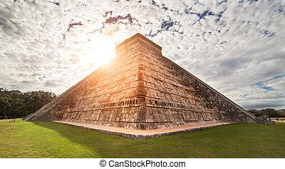 el, ピラミッド, メキシコ\, kukulcan, mayan, castillo., chichen - itza