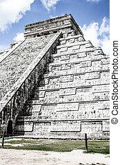 el, ピラミッド, itza), メキシコ\, kukulcan, mayan, castillo, (chichen, chichen - itza