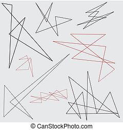 el, 抽象的, デザインを設定しなさい, 幾何学的