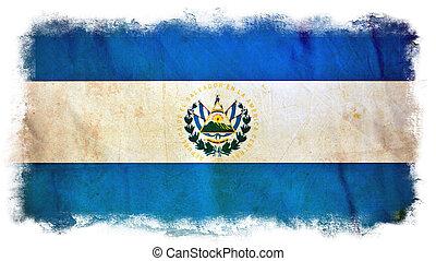 el, 旗, グランジ, サルバドール