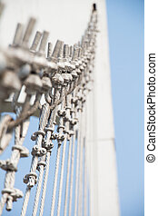 el, alambre, metal, puente lazo