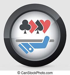 el apostar, centro, icono