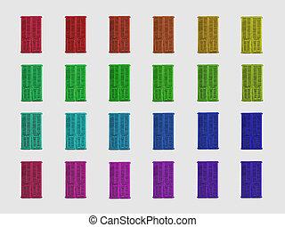 el arco iris, obturadores