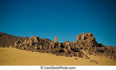 el, argelia, nacional, berdj, parque, cañón, paisaje,...