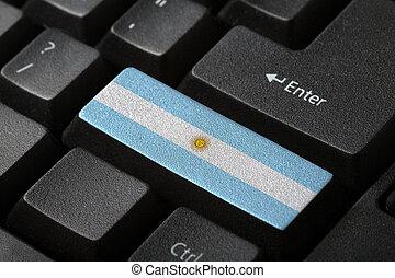 el, argentino, bandera