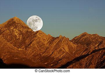 el, aus, moonrise, lucero