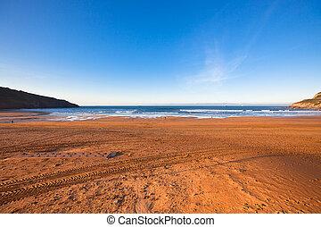el, bahía biscay, cerca, bilbao, españa, en, enero