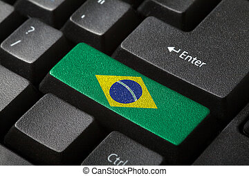 el, bandera brasileña