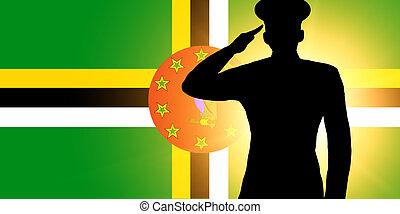 el, bandera dominica