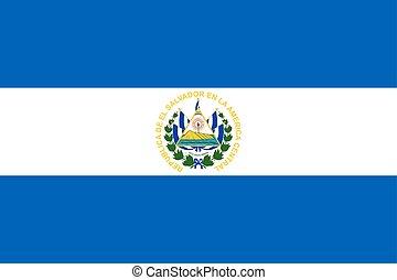 El Bandera Salvador Corazon El Bandera Ilustracion Salvador