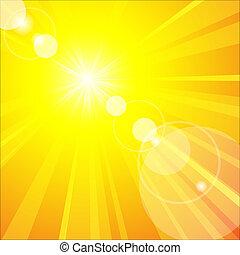 el, caliente, verano, sol
