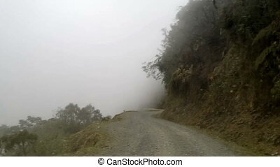 El Camino de la Muerte - The Death Road in Yungas Region, Northeast of La Paz, Bolivia,