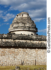 "El Caracol Mayan Observatory - Tower of the ""El Caracol""..."