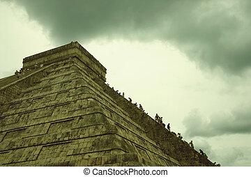 El Castillo, Chichen Itza - The pyramid of El Castillo (The...