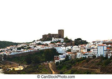 el castillo, encima de, colina
