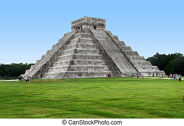 El Castillo in Chichen Itza - step-pyramid named El Castillo...
