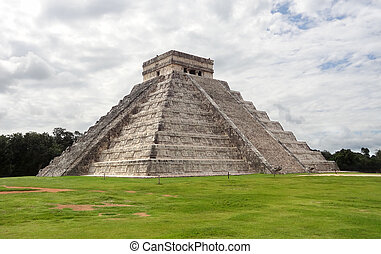 El Castillo in Chichen Itza - step-pyramid named El Castillo...