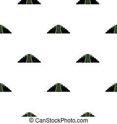 El Castillo Mayan pyramid pattern seamless