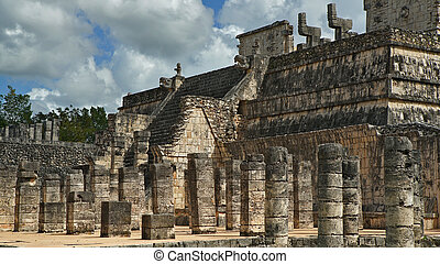 Chichen Itza, mayan pyramid in Yucatan, Mexico. It's one of the new 7 wonders of the world