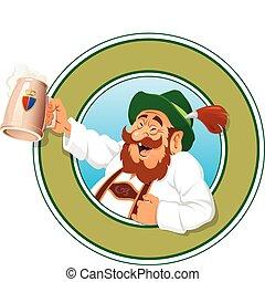 el, cerveza, cazador
