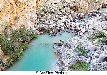 El Chorro gorge in Malaga, Spain