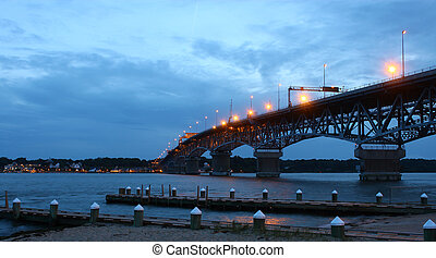 el, coleman, puente, encima, el, york, río, southbound, de,...
