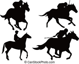 el competir con del caballo, juego