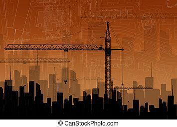 el, concepto, de, edificio