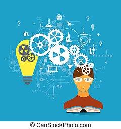 el, concepto, de, educación, desarrollo, y, science.