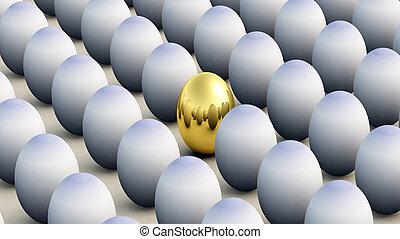 el conformarse, pascua, no, huevo