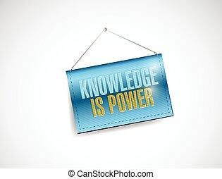 el conocimiento es energía, ahorcadura, bandera