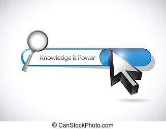 el conocimiento es energía, búsqueda, barra, ilustración
