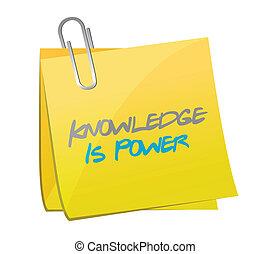 el conocimiento es energía, poste, message., ilustración