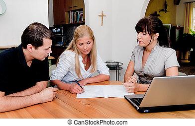 el consultar, apartamento, contrato, firma