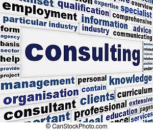 el consultar, concepto, mensaje, creativo