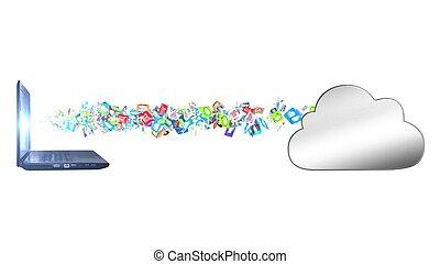 el, datos, es, cargado, a, el, nube